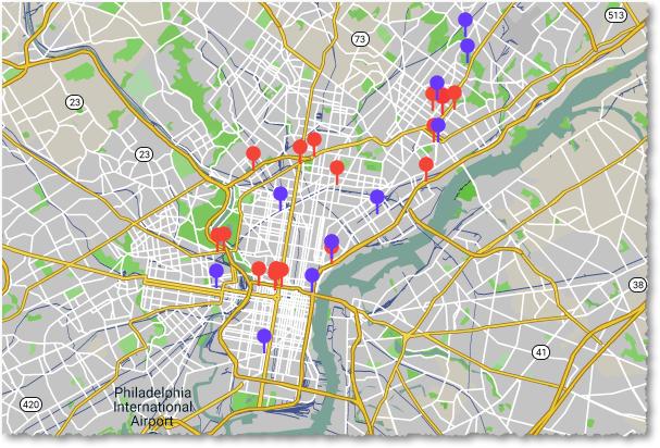 Most dangerous intersections in Philadelphia
